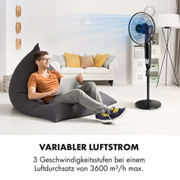 Klarstein Eye Of The Storm • Standventilator • Ventilator • Luftkühler • 16