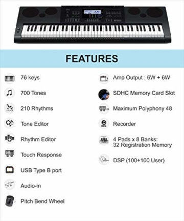 Casio WK-6600 Keyboard - 2