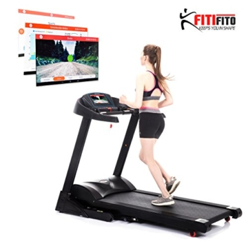 Fitifito FT880 Profi Laufband 7,5PS 22km/h mit 10,1 Zoll Touchscreen Android WiFi App 22 Trainingsmodulen inkl. HRC - 1