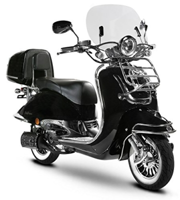 Retro Roller Easy Cruiser Chrom 50 ccm schwarz Motorroller Scooter Moped Mofa Easycruiser - 4