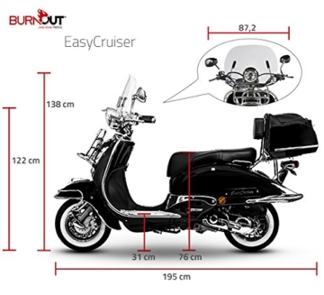 Retro Roller Easy Cruiser Chrom 50 ccm schwarz Motorroller Scooter Moped Mofa Easycruiser - 7