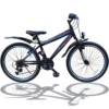Talson 24 Zoll Mountainbike Fahrrad MIT GABELFEDERUNG & Beleuchtung 21-Gang Shimano Faster BBO - 1