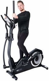 Miweba Sports Crosstrainer MC400 Stepper Ellipsentrainer Heimtrainer - Streaming App - 27 Kg Schwungmasse - Magnetbremse - Pulsmessung - 1