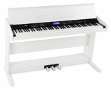 FunKey DP-88 II Digitalpiano (88 anschlagsdynamische Keyboard-Tasten, 128-fach polyphon, 360 Sounds, 160 Styles, MP3-Player, Lernfunktion, Record- & Playback-Funktion, 3 Pedale) weiß - 1