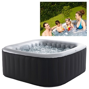 Whirlpool MSpa aufblasbar für 4 Personen 158x158cm In-Outdoor Pool 108 Massagedüsen Timer Heizung Aufblasfunktion per Knopfdruck Bubble Spa Wellness Massage - 5