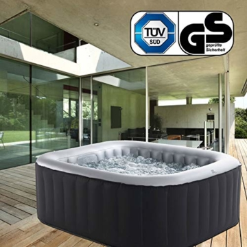Whirlpool MSpa aufblasbar für 4 Personen 158x158cm In-Outdoor Pool 108 Massagedüsen Timer Heizung Aufblasfunktion per Knopfdruck Bubble Spa Wellness Massage - 7