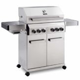 TAINO Platinum Gasgrill komplett Edelstahl Backburner Sear-Burner Power-Zone Keramik-Brenner BBQ Grillwagen Griller Gusseisen Seitenkocher Piezozündung (Platinum 4+2) - 1